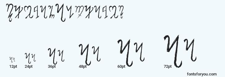 sizes of thebanalphabet font, thebanalphabet sizes