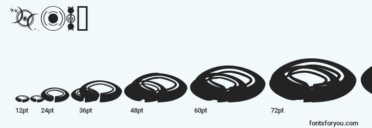 sizes of fts4 font, fts4 sizes