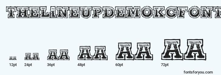 tailles de police thelineupdemokcfonts, thelineupdemokcfontstailles
