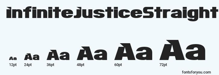 tailles de police infinitejusticestraight, infinitejusticestraighttailles