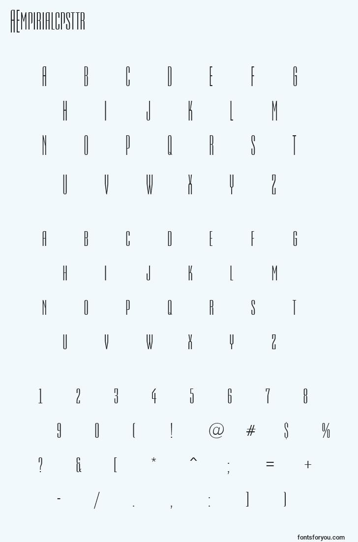 characters of aempirialcpsttr font, letter of aempirialcpsttr font, alphabet of  aempirialcpsttr font