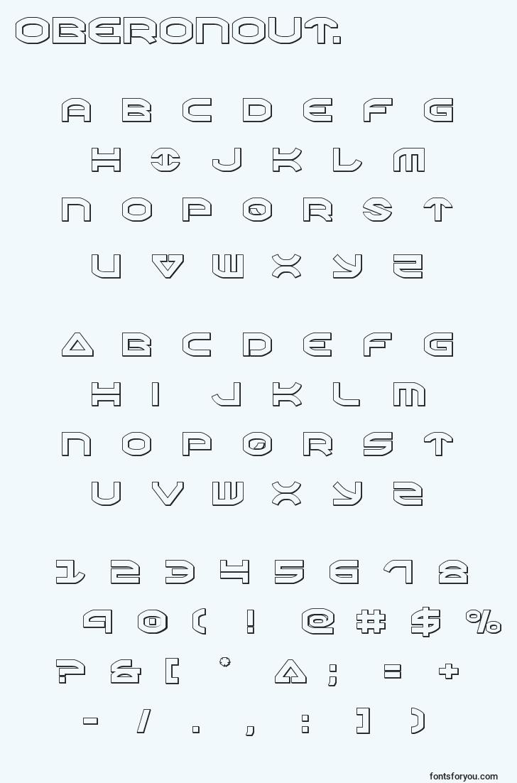 characters of oberonout. font, letter of oberonout. font, alphabet of  oberonout. font