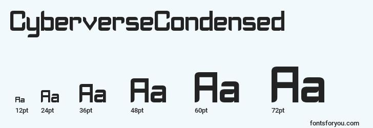 sizes of cyberversecondensed font, cyberversecondensed sizes