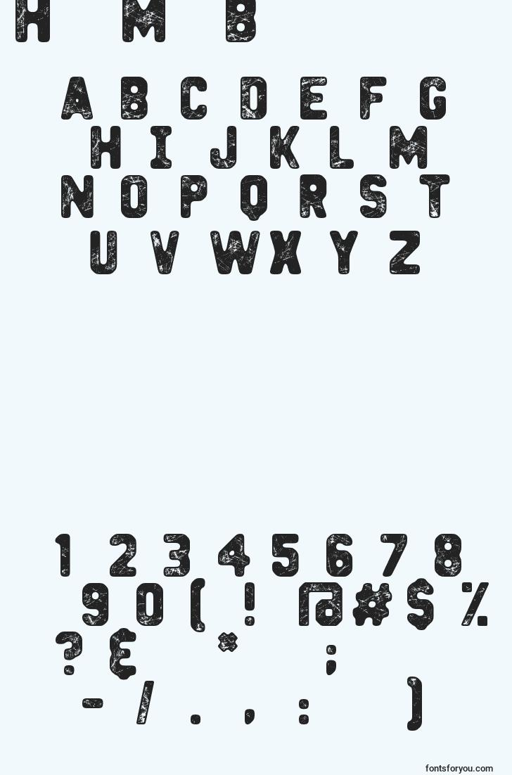 characters of heavymetalbox font, letter of heavymetalbox font, alphabet of  heavymetalbox font