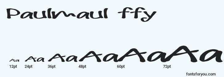 sizes of paulmaul ffy font, paulmaul ffy sizes