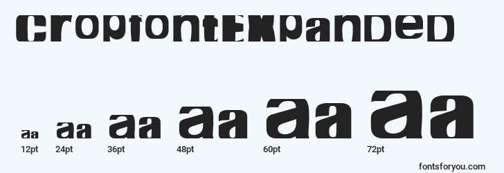 sizes of cropfontexpanded font, cropfontexpanded sizes
